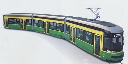 Tältä näyttävät vuoden parin päästä Helsingin kiskoille tulevat uudet kotimaiset, Transtechin rakentamat modernit spårat.Kuva Transtech / HKL