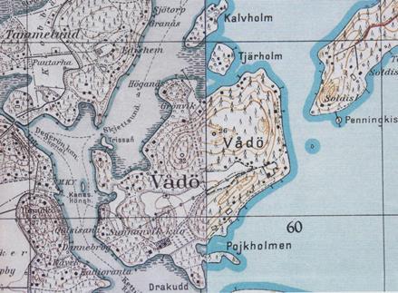Vartiosaaren maastokartta vuosilta 1931-35